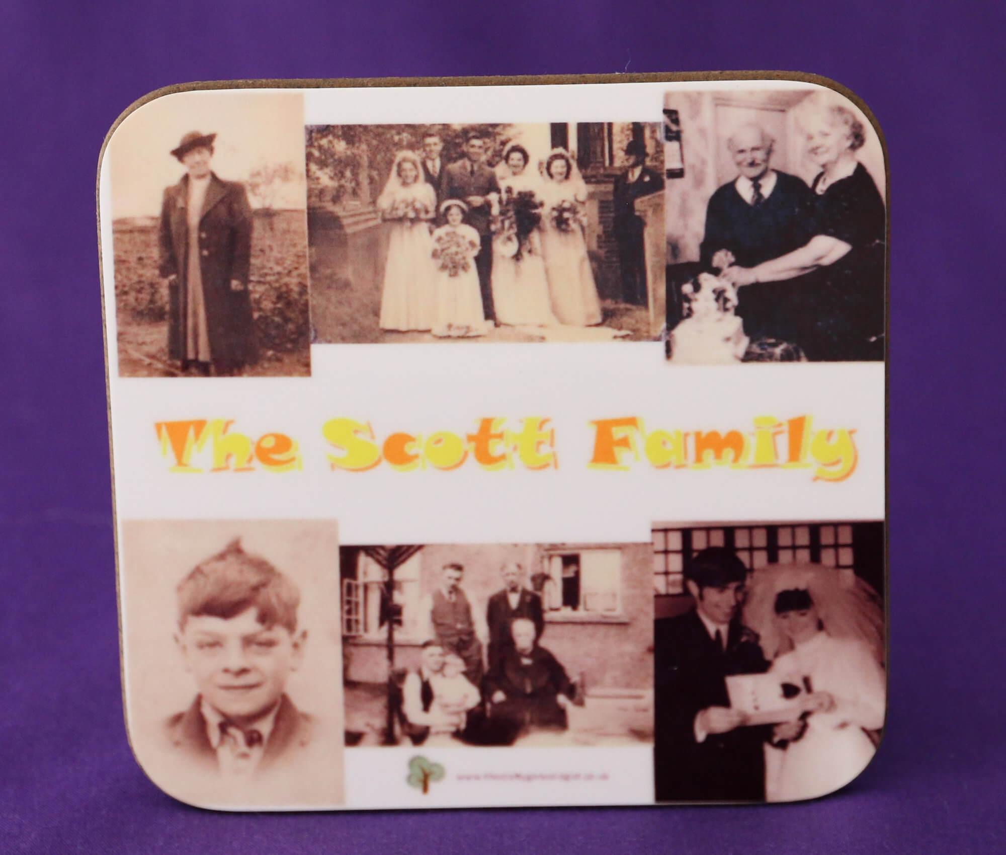 Family Photos Coaster