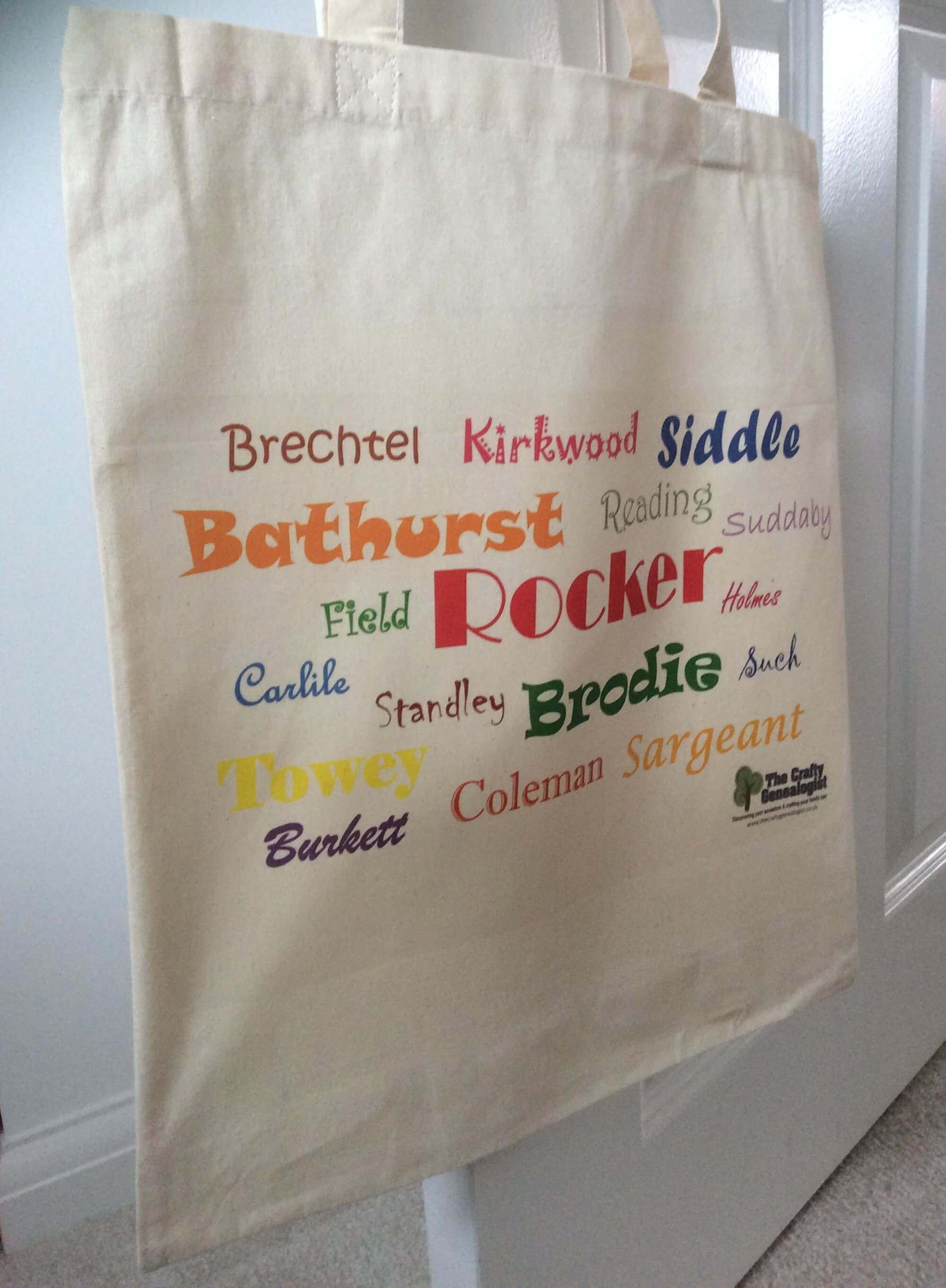 Ancestors' Surnames Bag (printed)