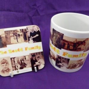 Family Photos Mug and Coaster set