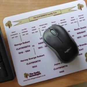 Family Tree Mouse Mat on desk