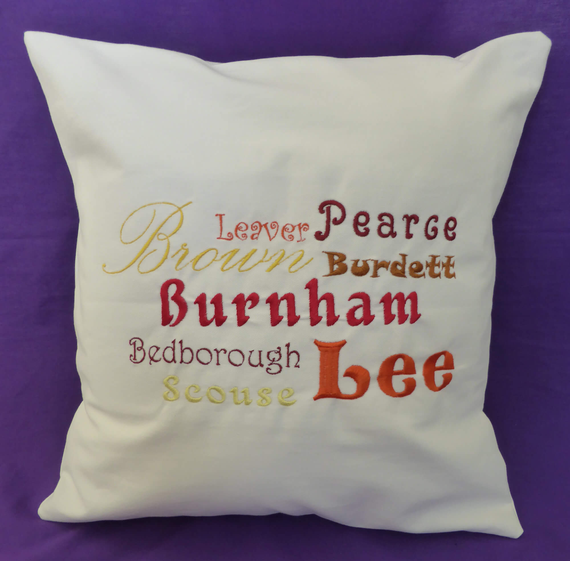 Ancestors' Surnames Cushion Cover