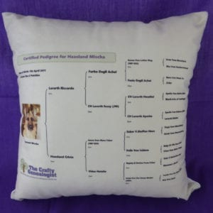 Dog Pedigree Cushion Cover