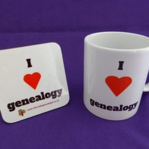 I love genealogy mug and coaster gift set