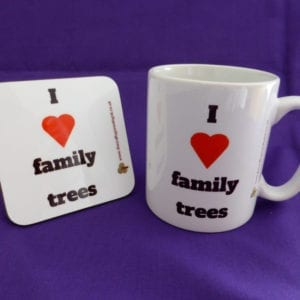 I love family tees mug and coaster gift set