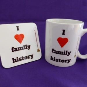 I love family history mug and coaster gift set