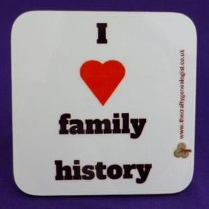 I love family history coaster