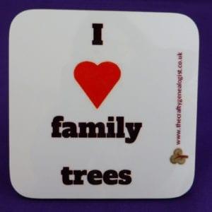 I love family trees coaster